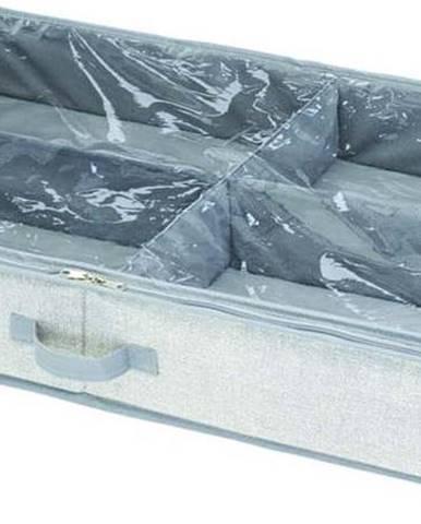 Šedý úložný box pod postel iDesign Aldo, 53x91cm