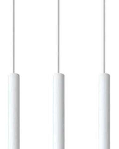 Bílé závěsné svítidlo Nice Lamps Fideus,délka30cm