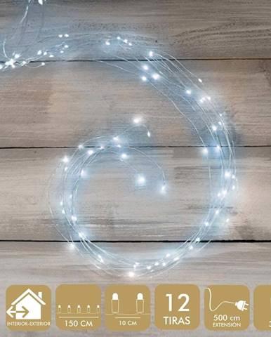 Světelný micro-LED řetěz ve stříbrné barvě Unimasa Metal, 354 světýlek