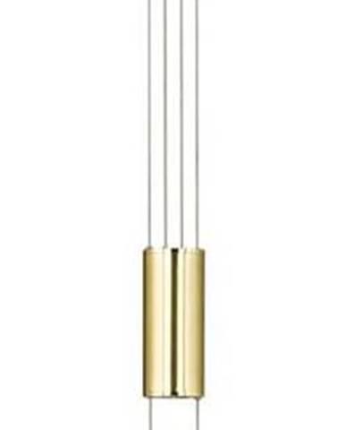 Závěsné svítidlo v bílo-zlaté barvě Fischer & Honsel Avignon