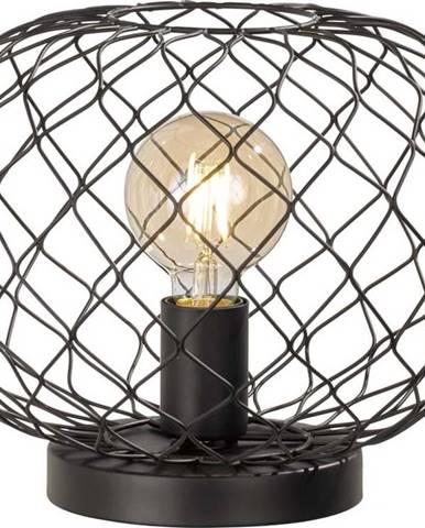 Černá stolní lampa Fischer & Honsel Justin
