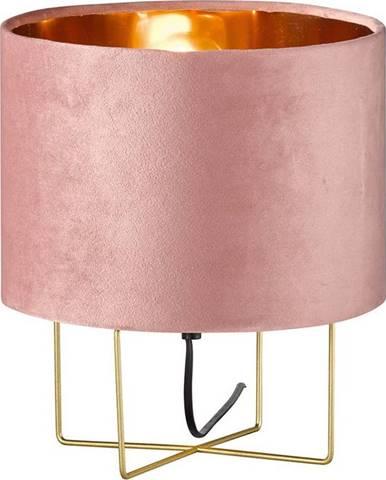 Růžová stolní lampa Fischer & Honsel Aura,výška32cm