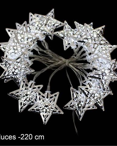 Světelný LED řetěz Unimasa Estrella Metal, 20 světýlek