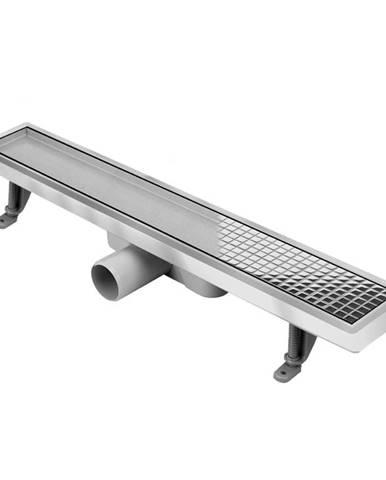 Liniové odvodnění sprchový žlab Duplex ABS+Inox 800