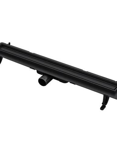 Liniové odvodnění sprchový žlab Duplex  cèrné ABS+Inox 700