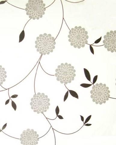 Závěs s kolečky Basic Flowers šedý Bisk