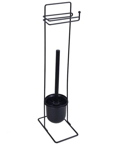 BAUMAX Stojan WC Basic Square černý Bisk