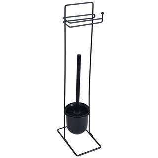 Stojan WC Basic Square černý Bisk