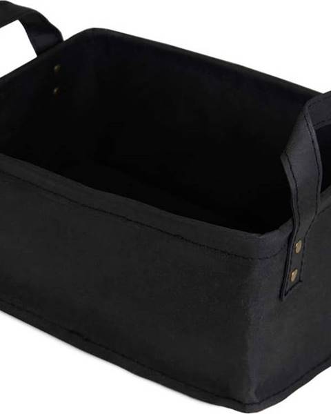 Compactor Černý úložný košík ze surové buničiny Compactor Ecologik