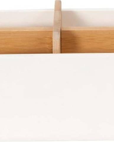 Bílý koupelnový organizér Compactor Ecologic,21 x8cm