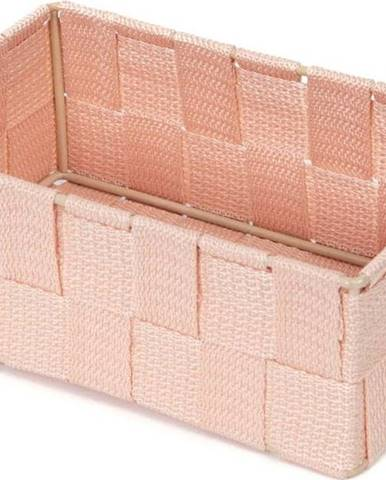Růžový koupelnový organizér Compactor Stan,18x12cm
