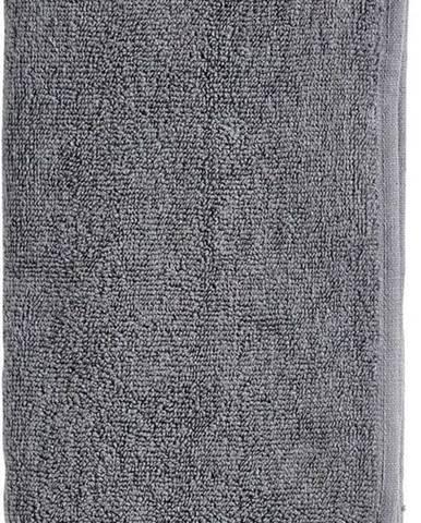 Šedý ručník s příměsí lnu Zone Inu,100x50cm