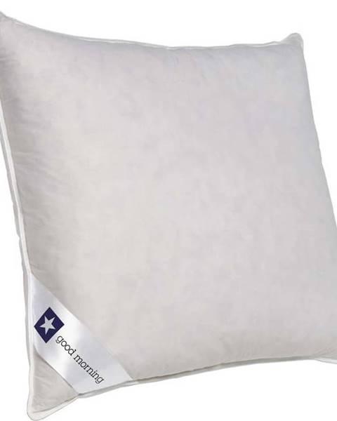 GOOD MORNING Bílý polštář s výplní z kachního peří a prachového peří Good Morning Premium,80x80cm