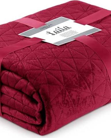 Červený přehoz přes postel AmeliaHome Laila Ruby Red, 260x240cm