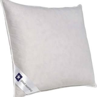 Bílý polštář s výplní z kachního peří a prachového peří Good Morning Premium,80x80cm