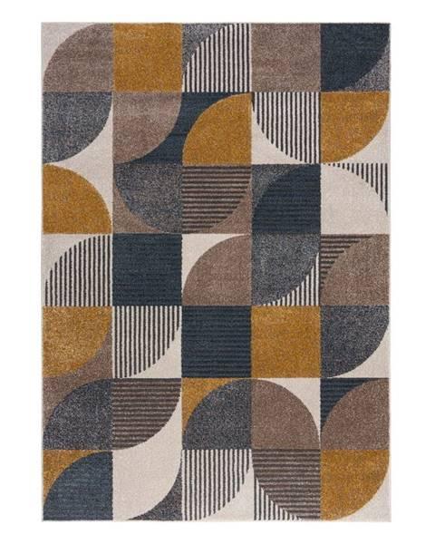 Flair Rugs Žluto-modrý koberec Flair Rugs Retro, 160 x 230 cm