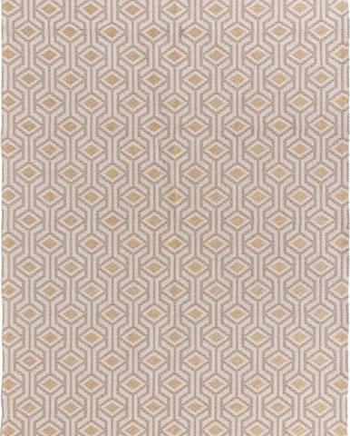 Béžovo-žlutý bavlněný koberec Flair Rugs Bombax, 114 x 170 cm