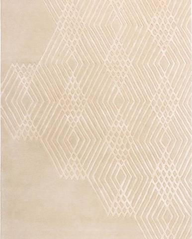 Béžový vlněný koberec Flair Rugs Diamonds, 120 x 170 cm