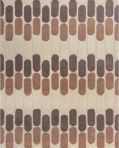 Hnědo-béžový vlněný koberec Flair Rugs Fossil, 120 x 170 cm