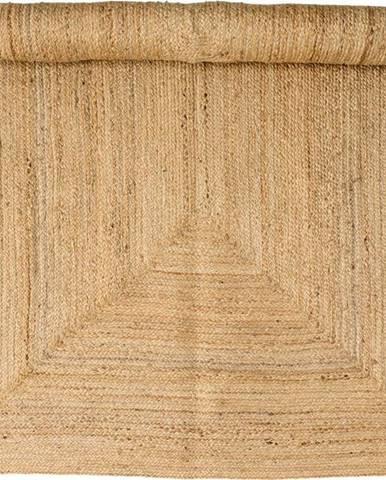 Hnědý jutový koberec Bloomingville Nat, 140 x 200 cm