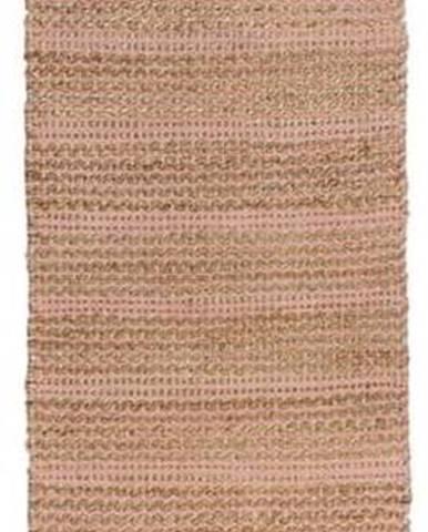 Růžový jutový běhoun Flair Rugs Equinox, 60 x 230 cm