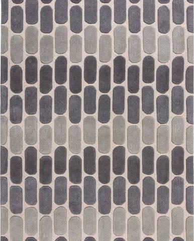 Šedý vlněný koberec Flair Rugs Fossil, 160 x 230 cm