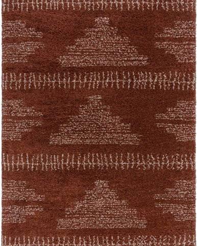 Tmavě červený koberec Flair Rugs Zane, 120 x 170 cm