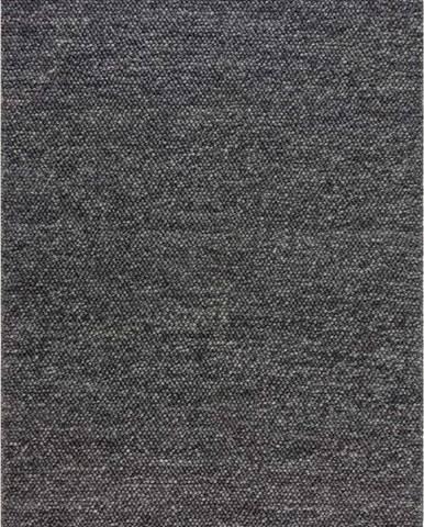 Tmavě šedý vlněný koberec Flair Rugs Minerals, 80 x 150 cm