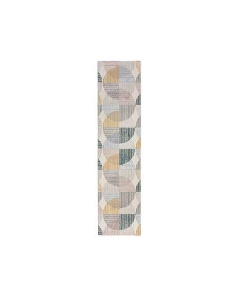 Flair Rugs Šedo-žlutý koberec Flair Rugs Centro, 60 x 230 cm