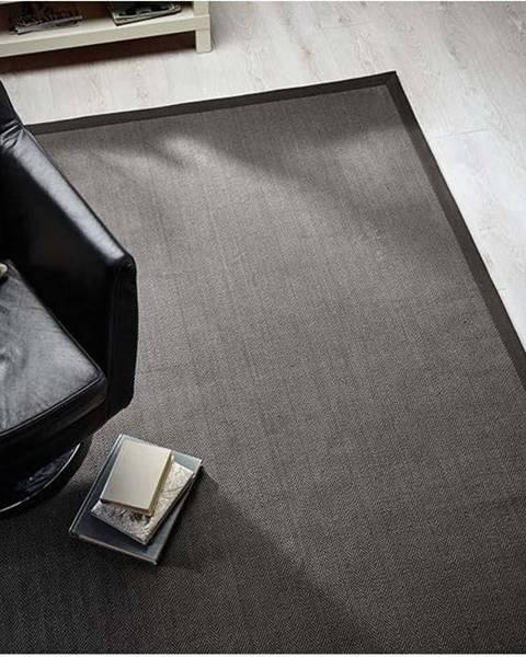 Flair Rugs Šedý koberec z juty Flair Rugs Check, 160 x 230 cm