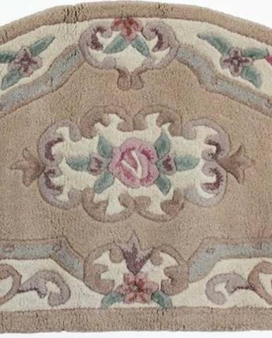 Béžový vlněný koberec Flair Rugs Aubusson, 67x127cm