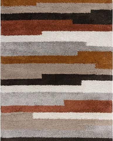 Červeno-šedý koberec Flair Rugs Deka, 120 x 170 cm