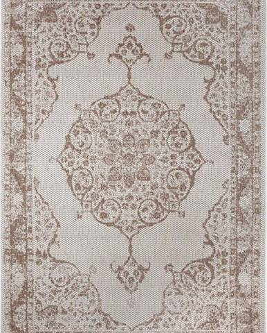 Hnědo-béžový venkovní koberec Ragami Oslo, 80 x 150 cm