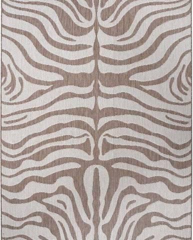Hnědo-béžový venkovní koberec Ragami Safari, 120 x 170 cm