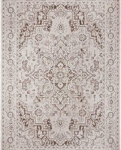 Hnědo-béžový venkovní koberec Ragami Vienna, 80 x 150 cm
