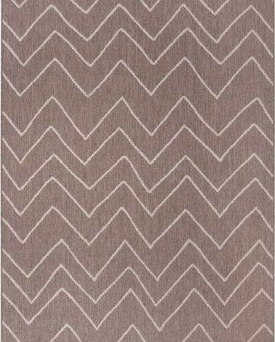 Hnědý venkovní koberec Ragami Lisbon, 80 x 150 cm