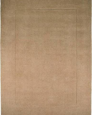 Hnědý vlněný koberec Flair Rugs Siena, 120 x 170 cm