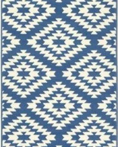 Modro-bílý běhoun Hanse Home Jenny, 80 x 300 cm