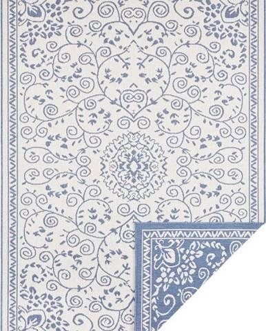 Modro-krémový venkovní koberec Bougari Leyte, 120 x 170 cm