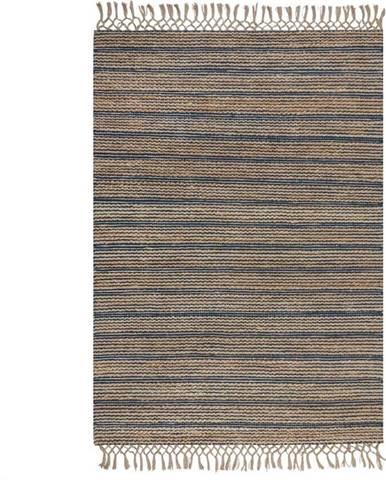 Modrý jutový koberec Flair Rugs Equinox, 120 x 170 cm