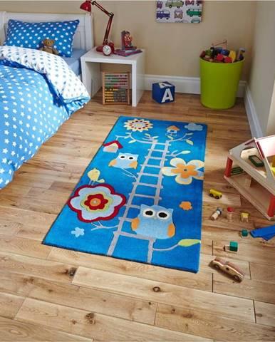 Modrý koberec Think Rugs Hong Kong Blue, 70x140cm