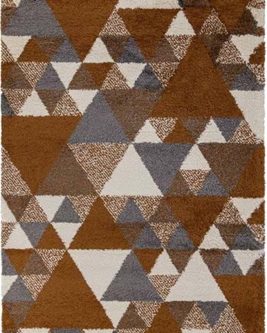 Oranžovo-šedý koberec Flair Rugs Nuru, 80 x 150 cm