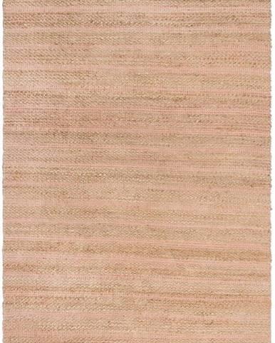 Růžový jutový koberec Flair Rugs Equinox, 160 x 230 cm
