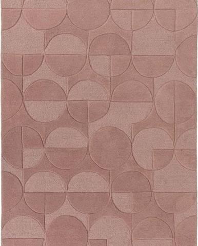 Růžový vlněný koberec Flair Rugs Gigi, 200 x 290 cm