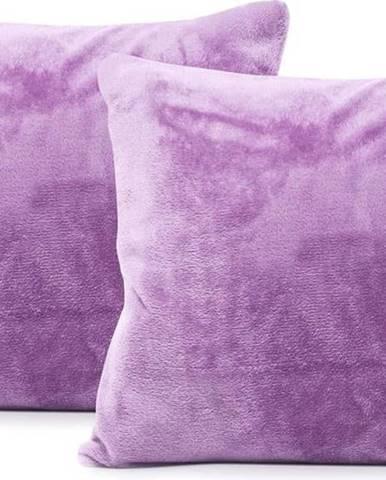 Sada 2 světle fialových povlaků na polštáře DecoKing Mic, 45 x 45 cm