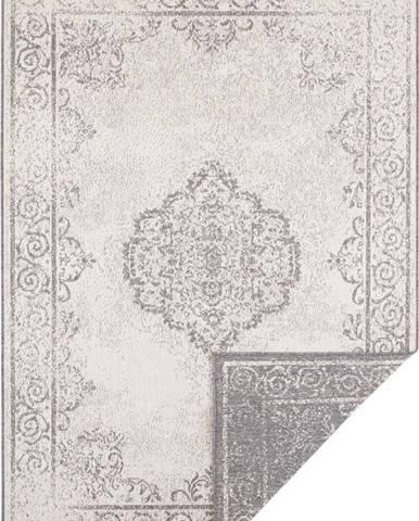 Šedo-krémový venkovní koberec Bougari Cebu, 200 x 290 cm