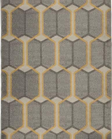 Šedý koberec Flair Rugs Urban Trellis, 133 x 185 cm