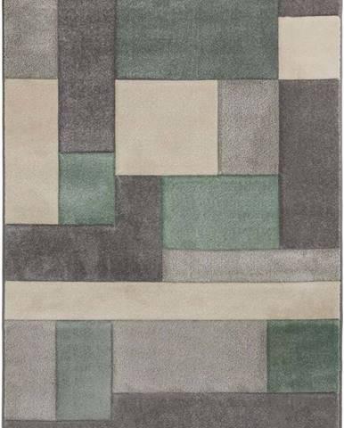 Zeleno-šedý koberec Flair Rugs Cosmos, 120 x 170 cm
