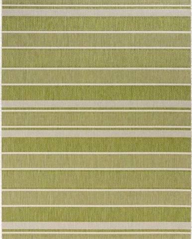 Zelený venkovní koberec Bougari Strap, 200x290cm