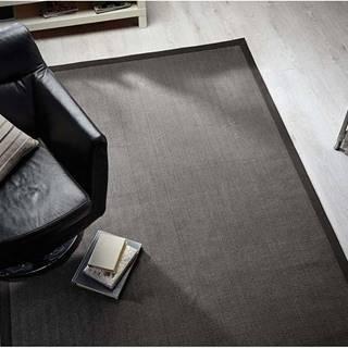 Šedý koberec z juty Flair Rugs Check, 160 x 230 cm